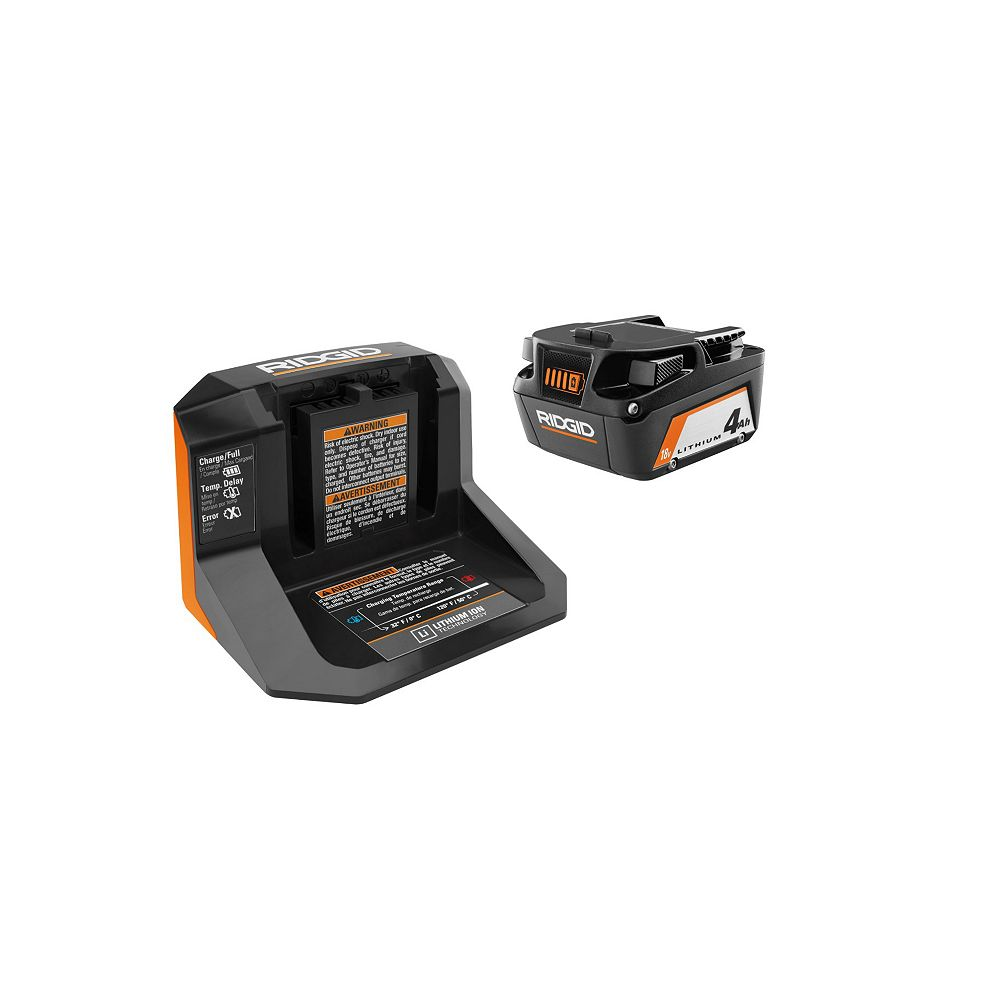 RIDGID 18V Starter Kit w/ 4.0 Ah Battery & Charger