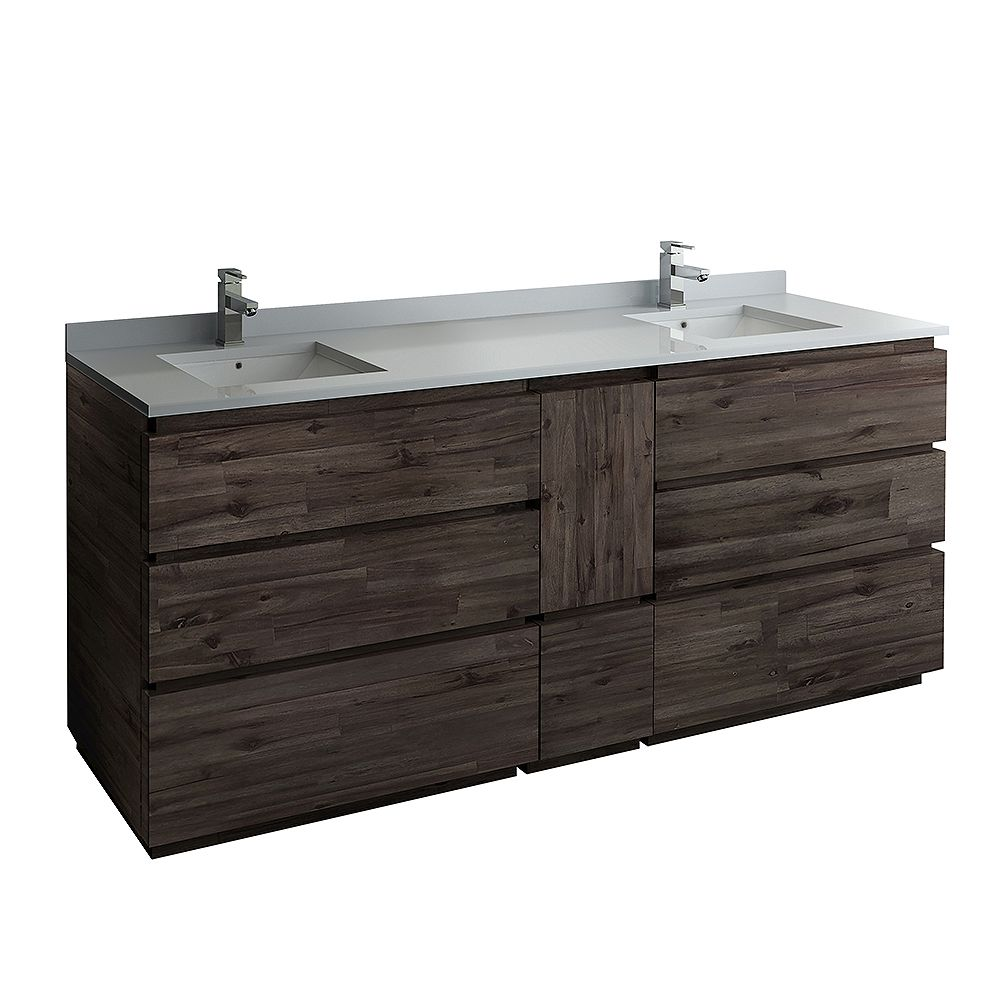 Fresca Formosa 82 inch Freestanding Double Bathroom Vanity Only in Acacia
