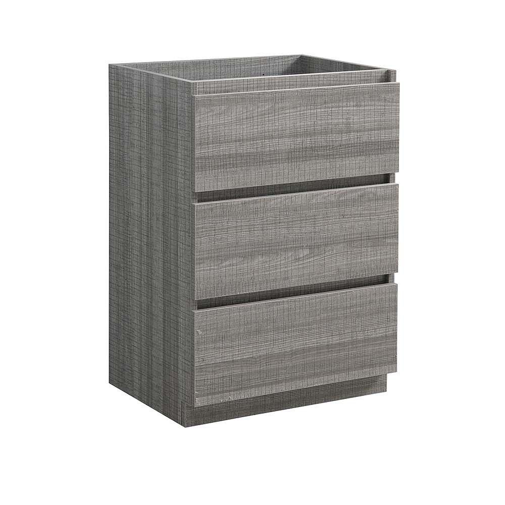 Fresca Lazzaro 23.6 inch Free Standing Modern Bathroom Vanity Only in Glossy Ash Gray