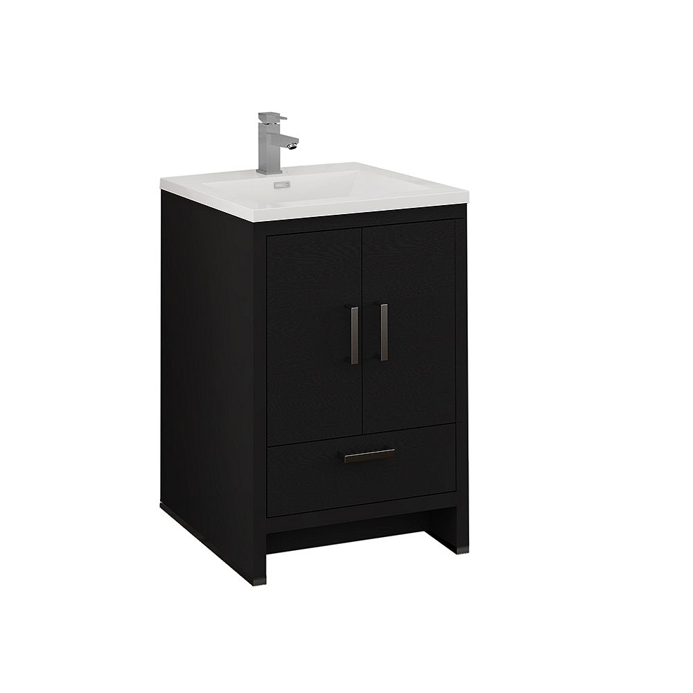 Fresca Imperia 24 inch Dark Gray Oak Free Standing Modern Bathroom Vanity with Acrylic Top