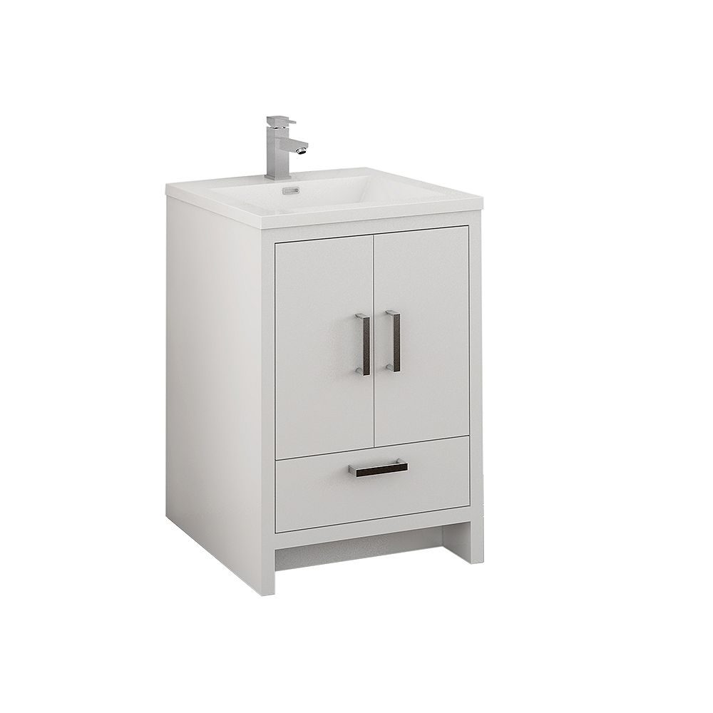 Fresca Imperia 24 inch Glossy White Free Standing Modern Bathroom Vanity with Acrylic Top