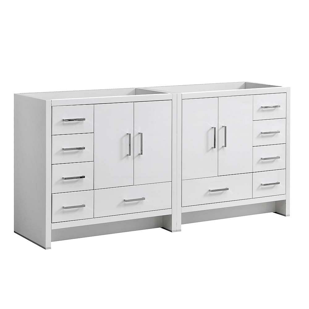Fresca Imperia 71 inch Glossy White Free Standing Modern Double Sink Vanity Only