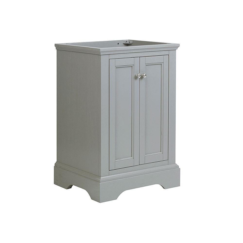Fresca Windsor 24 inch Gray Textured Traditional Bathroom Vanity Only