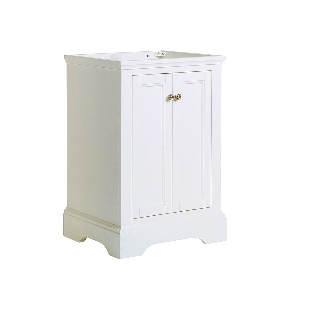Fresca Windsor 24 inch Matte White Traditional Bathroom Vanity Only