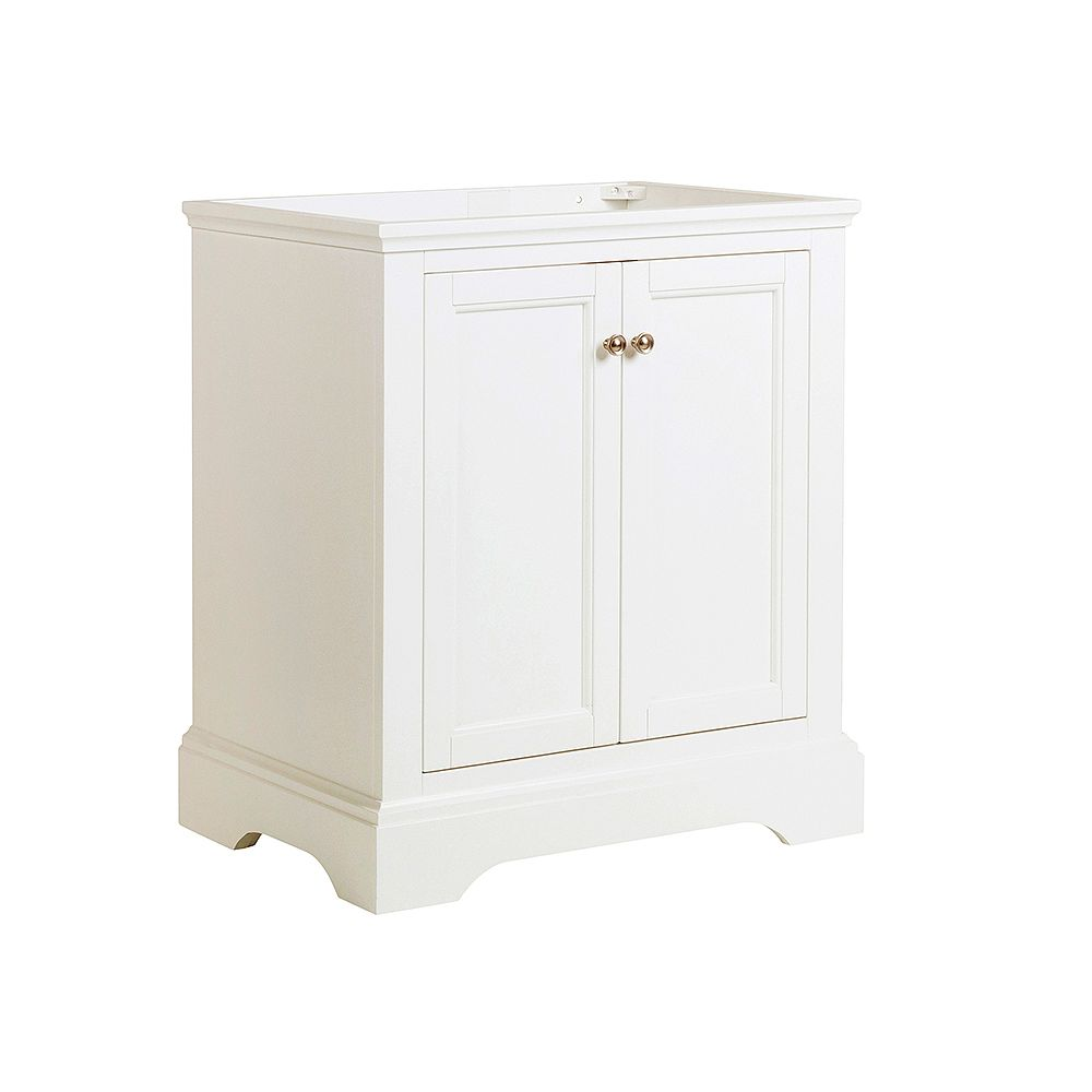 Fresca Windsor 30 inch Matte White Traditional Bathroom Vanity Only