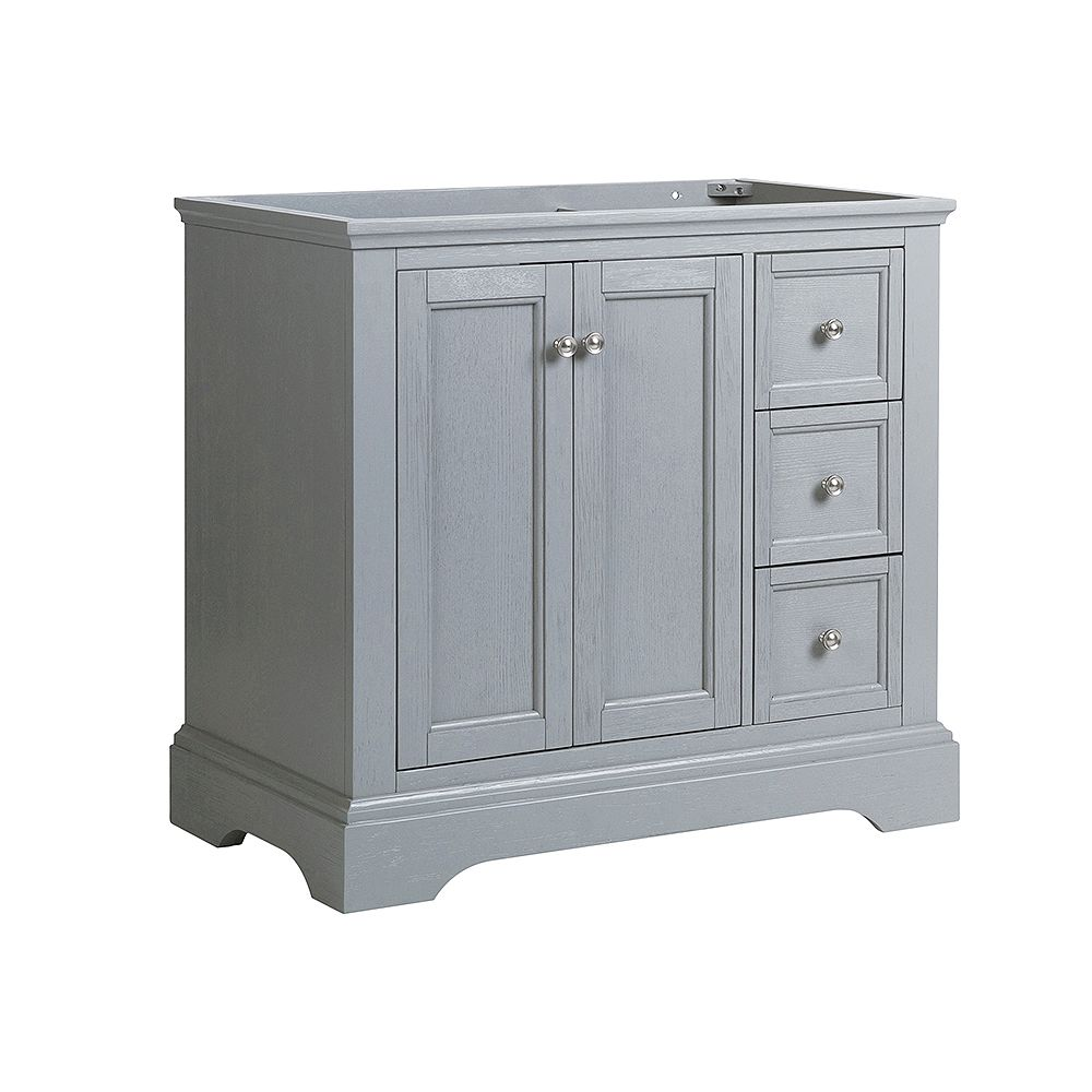 Fresca Windsor 36 inch Gray Textured Traditional Bathroom Vanity Only