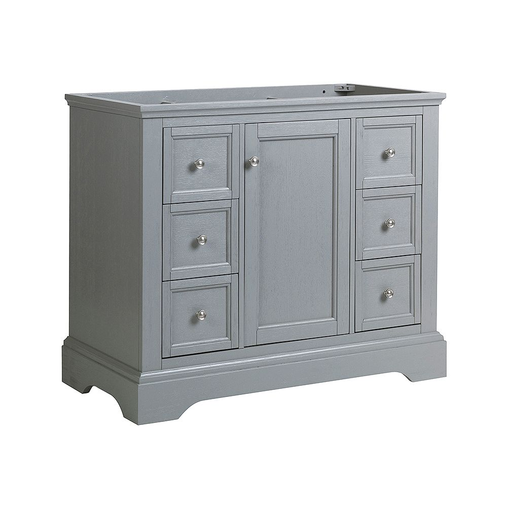 Fresca Windsor 40 inch Gray Textured Traditional Bathroom Vanity Only