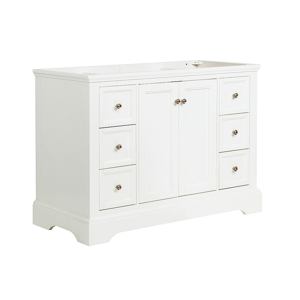 Fresca Windsor 48 inch Matte White Traditional Bathroom Vanity Only