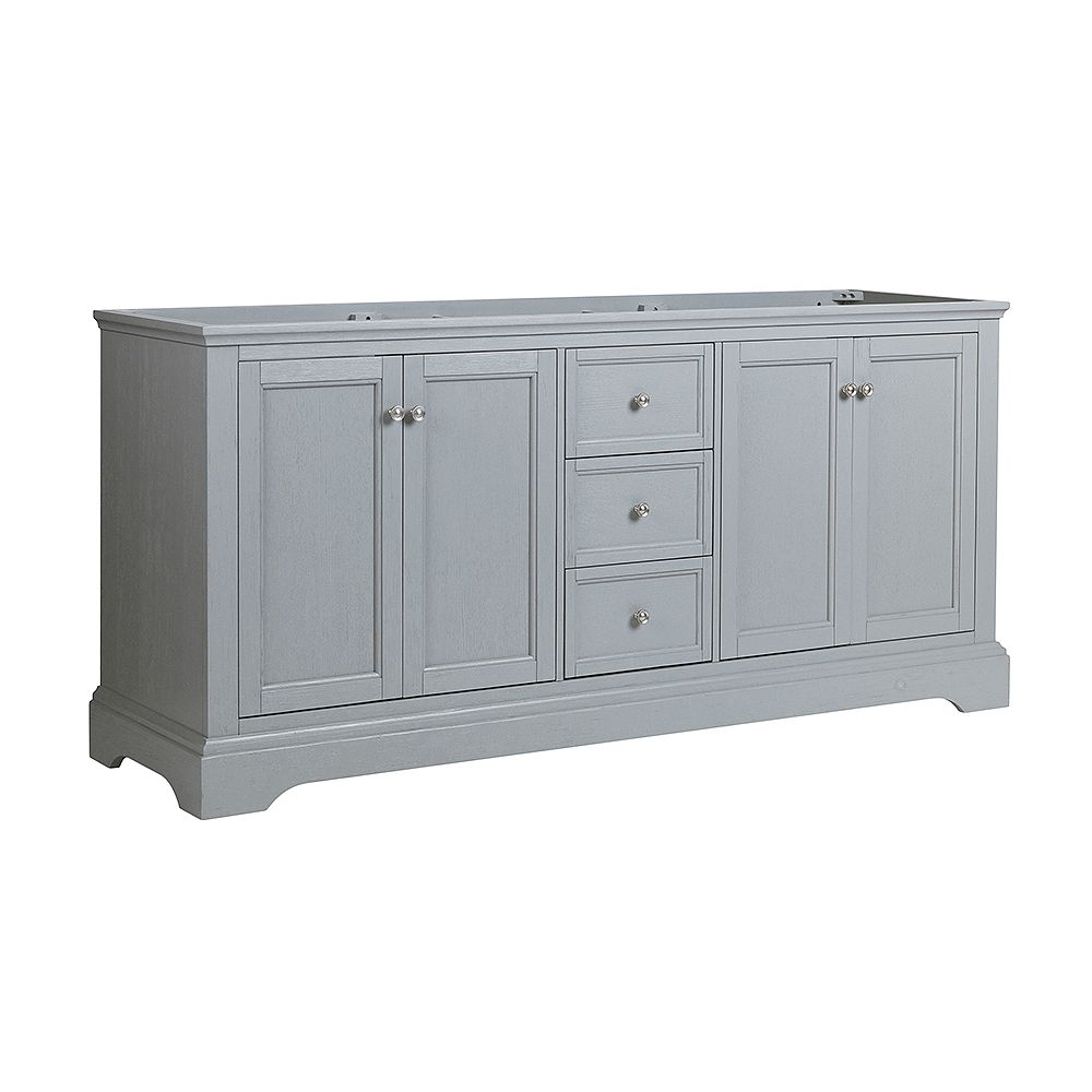 Fresca Windsor 72 inch Gray Textured Traditional Double Bathroom Vanity Only