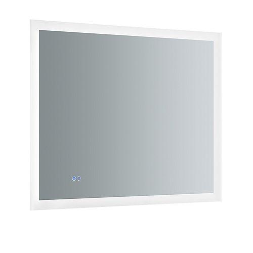 Fresca Angelo Miroir de salle de bains 36 po x 30 po avec éclairage à DEL style halo et désembueur