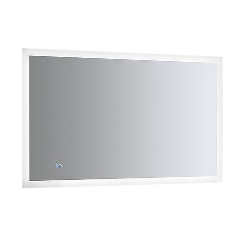 Angelo Miroir de salle de bains 48 po x 30 po avec éclairage à DEL style halo et désembueur