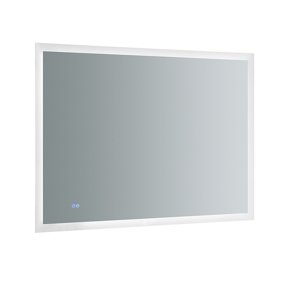 Fresca Angelo 48in. W x 36in. H Frameless Bathroom Mirror with Halo Style LED Lighting and Mirror Defogger