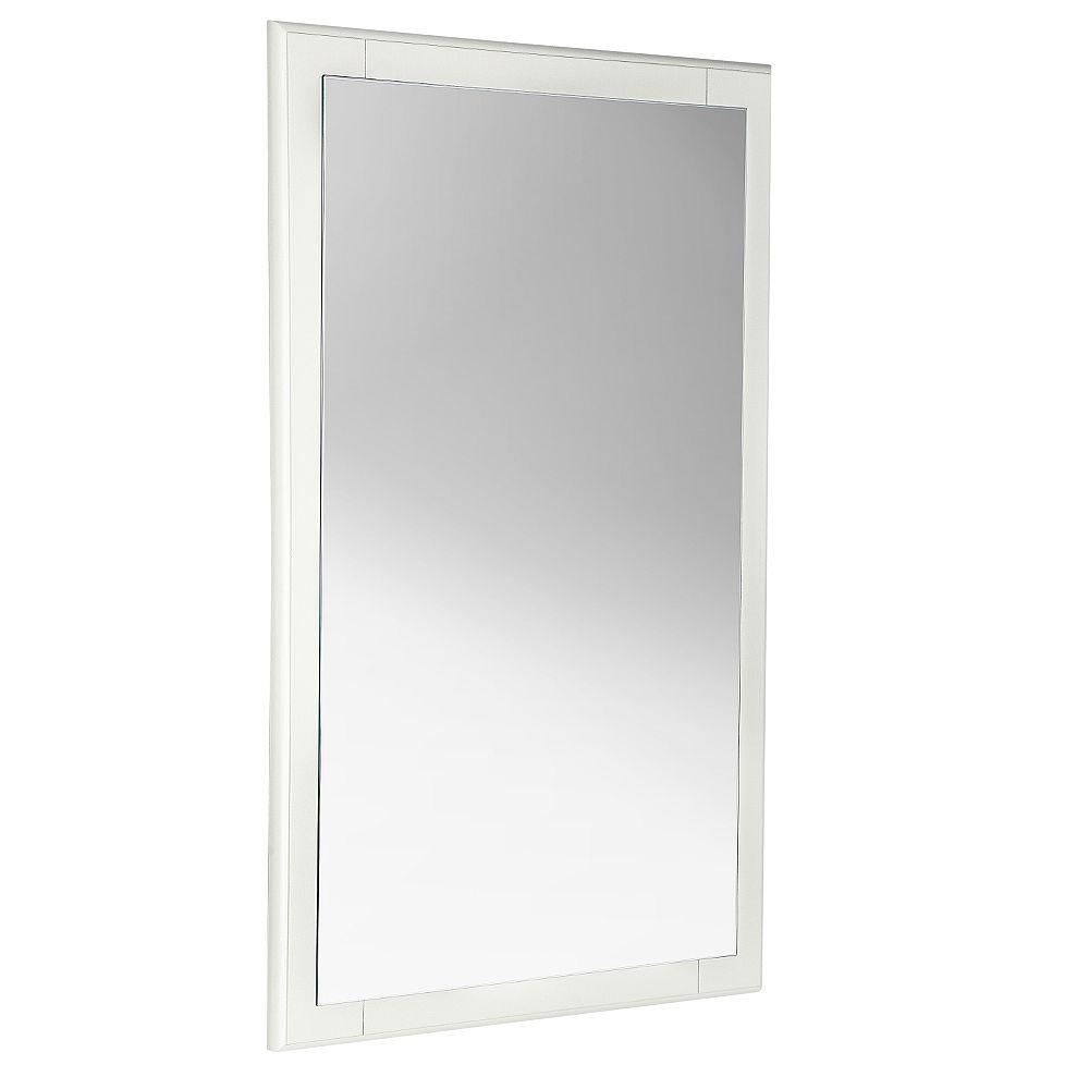 Fresca Oxford 20 inch W x 32 inch H Framed Wall Mirror in Antique White