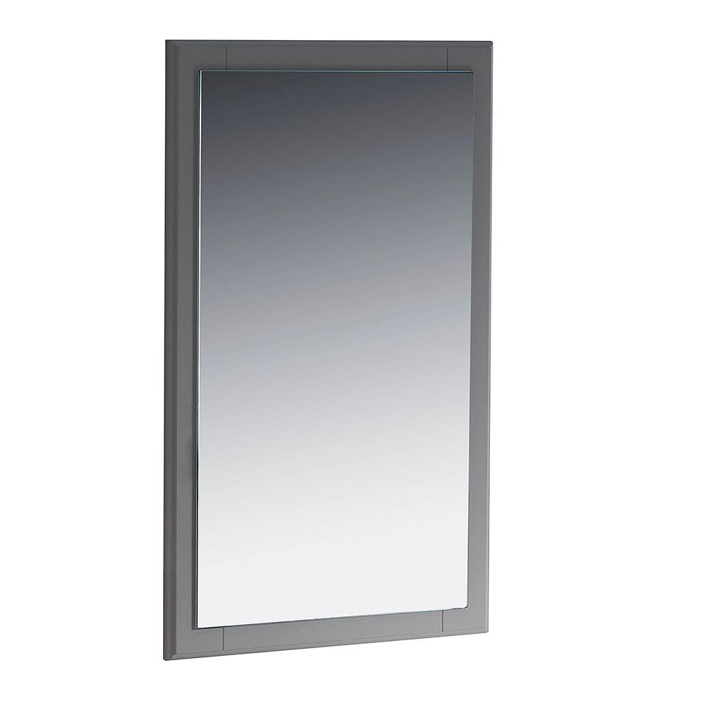 Fresca Oxford 20 inch W x 32 inch H Framed Wall Mirror in Gray