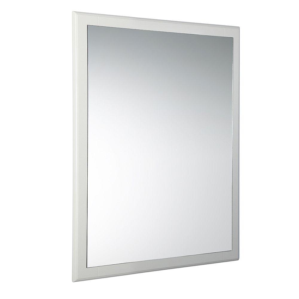 Fresca Oxford 26 inch W x 32 inch H Framed Wall Mirror in Antique White