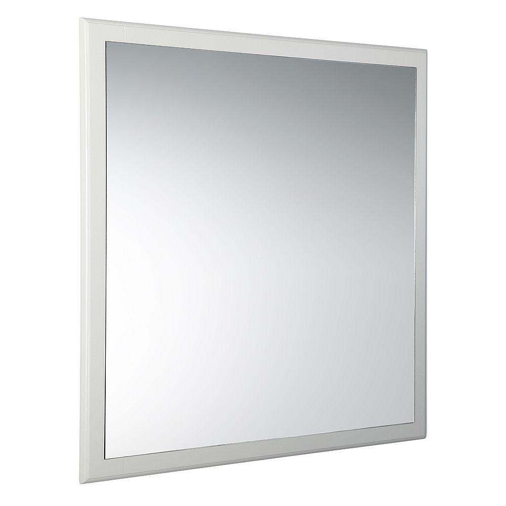 Fresca Oxford 32 inch W x 32 inch H Framed Wall Mirror in Antique White