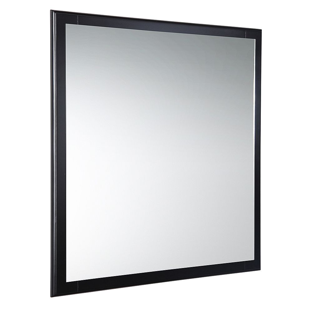 Fresca Oxford 32 in. W x 32 in. H Framed Wall Mirror in Espresso