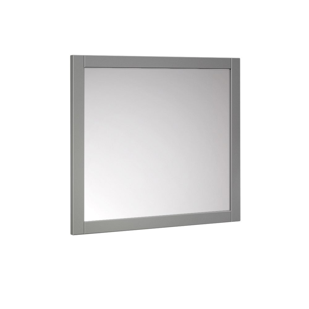 Fresca Manchester 30 inch W x 30 inch H Side Framed Wall Mirror in Gray