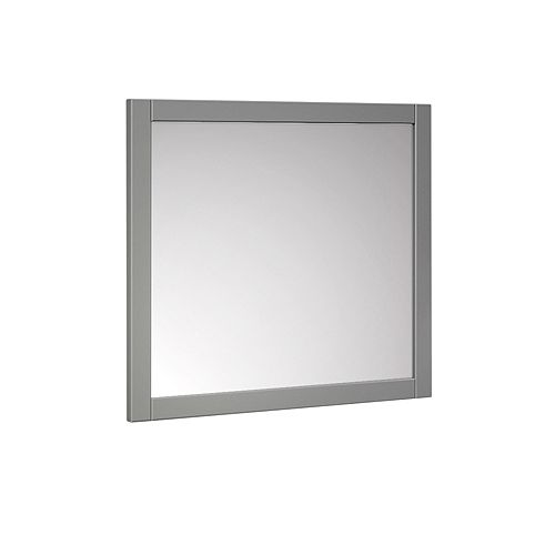 Manchester 30 inch W x 30 inch H Side Framed Wall Mirror in Gray
