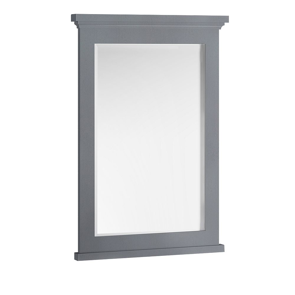Fresca Windsor 24 inch W x 35 inch H Framed Wall Mirror in Gray Textured
