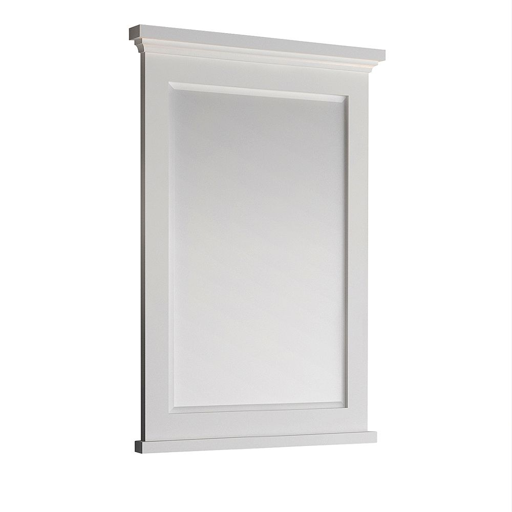 Fresca Windsor 27 inch W x 35 inch H Framed Wall Mirror in Matte White