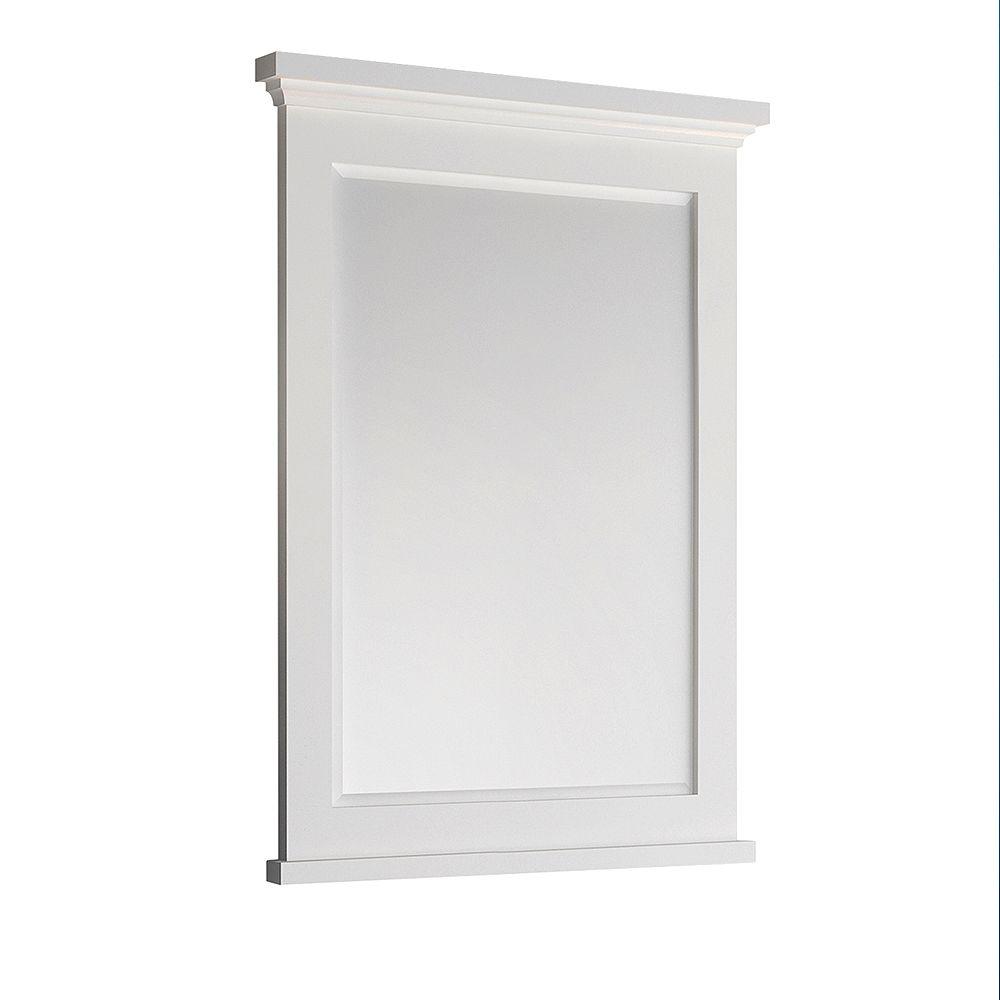 Fresca Windsor 30 inch W x 35 inch H Framed Wall Mirror in Matte White