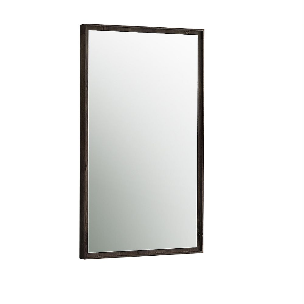 Fresca Formosa 20 inch W x 32 inch H Framed Wall Mirror in Acacia Wood