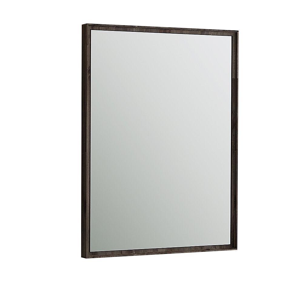 Fresca Formosa 26 inch W x 32 inch H Framed Wall Mirror in Acacia Wood