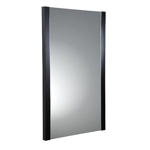 Torino 21 in. W x 31.50 in. H Side Framed Wall Mirror in Espresso