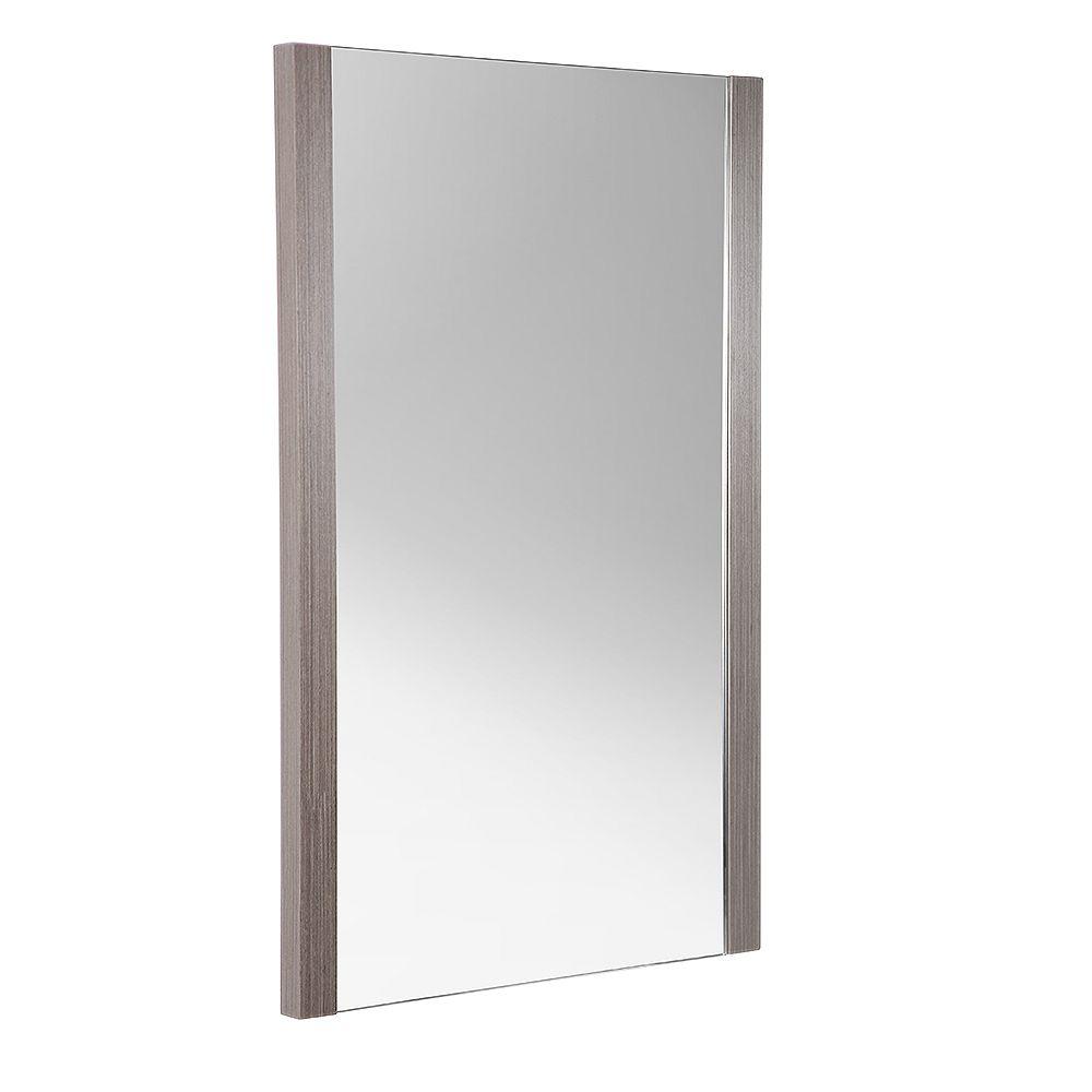 Fresca Torino 21 inch W x 31.50 inch H Side Framed Wall Mirror in Gray Oak
