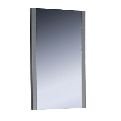 Torino 21 inch W x 31.50 inch H Side Framed Wall Mirror in Gray