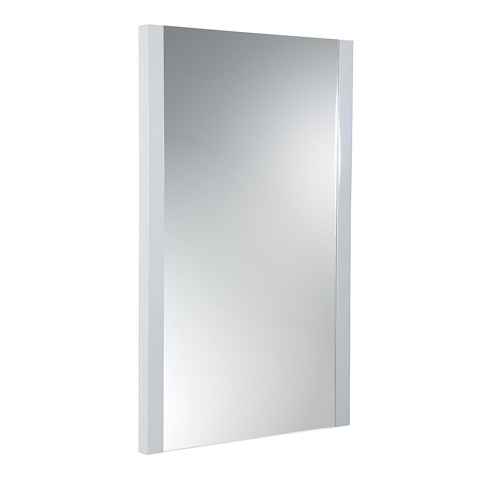 Fresca Torino 21 inch W x 31.50 inch H Side Framed Wall Mirror in White