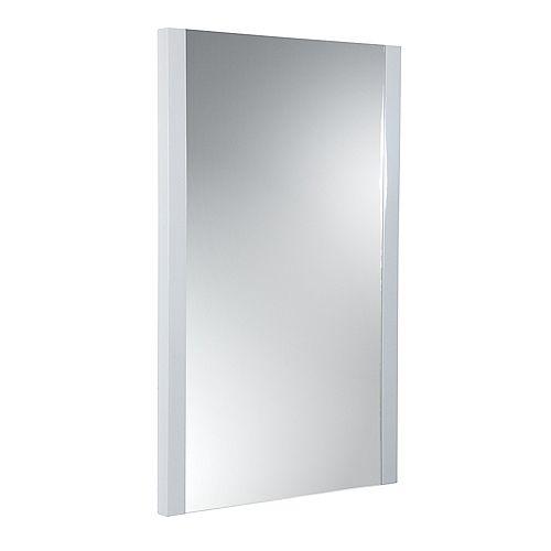 Torino 21 inch W x 31.50 inch H Side Framed Wall Mirror in White
