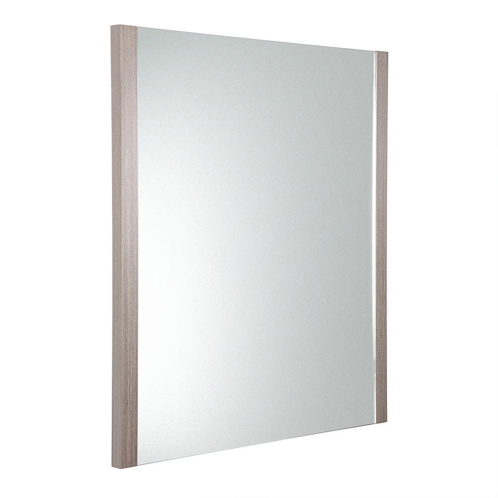 Fresca Torino 25.50 inch W x 31.50 inch H Side Framed Wall Mirror in Gray Oak