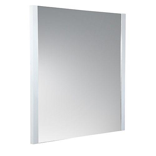 Torino 25.50 inch W x 31.50 inch H Side Framed Wall Mirror in White