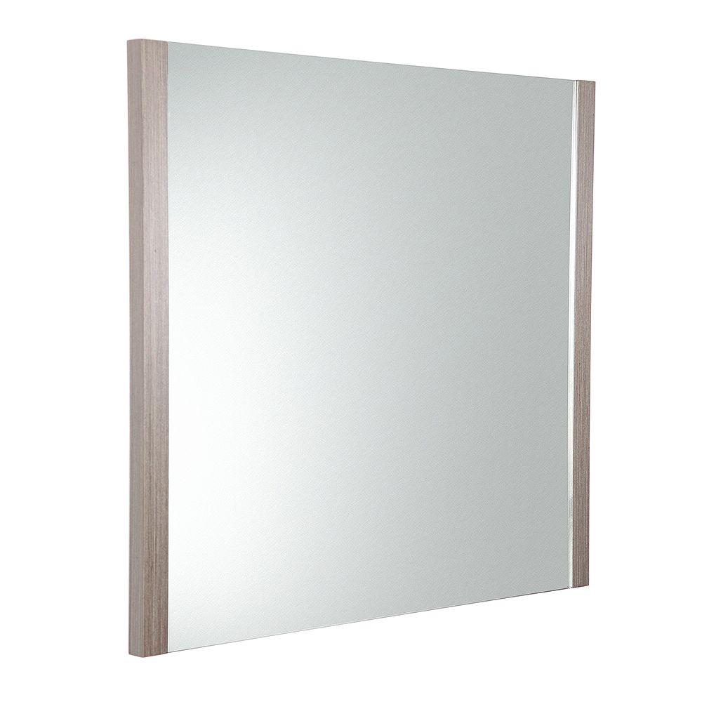 Fresca Torino 31.50 inch W x 31.50 inch H Side Framed Wall Mirror in Gray Oak