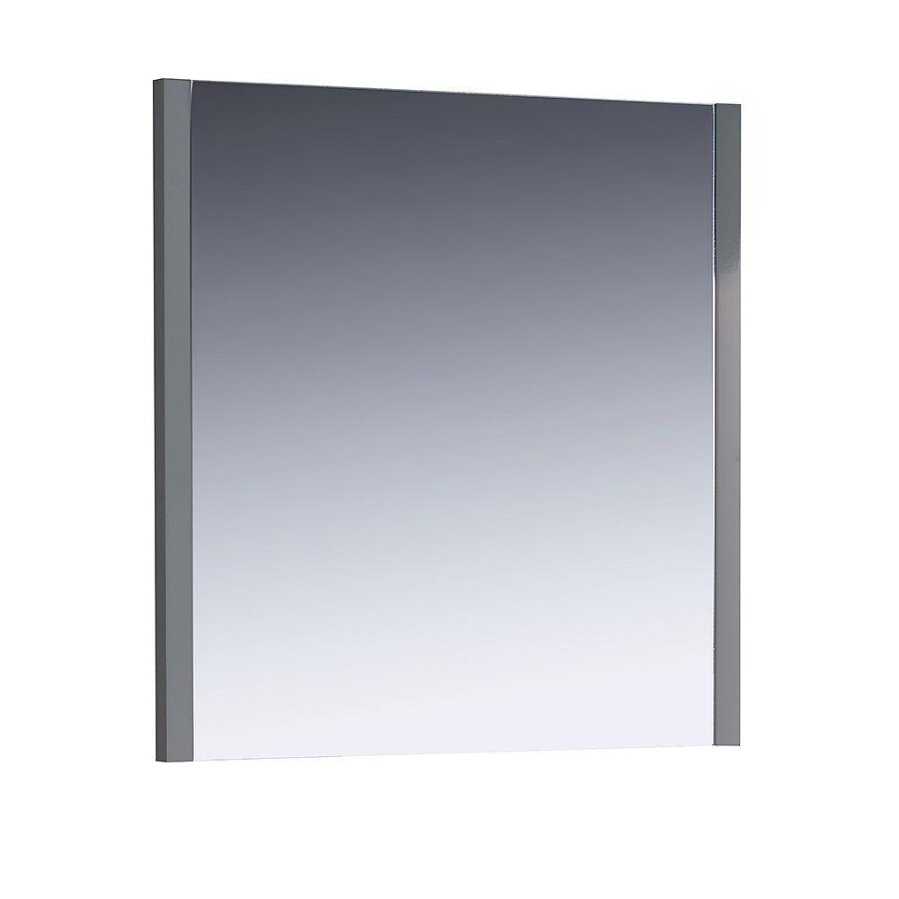 Fresca Torino 31.50 inch W x 31.50 inch H Side Framed Wall Mirror in Gray