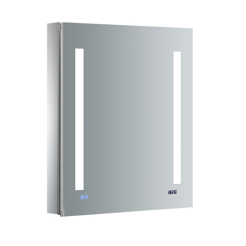 Fresca Tiempo 24in. W x 30in. H Recessed or Surface Mount Medicine Cabinet with LED Lighting and RHS Hinge
