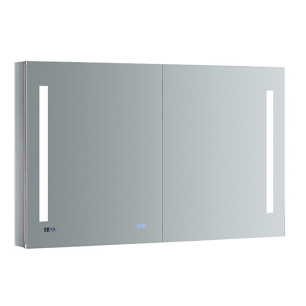 Fresca Tiempo 48 in. W x 30 in. H Recessed or Surface Mount Medicine Cabinet with LED Lighting and Defogger