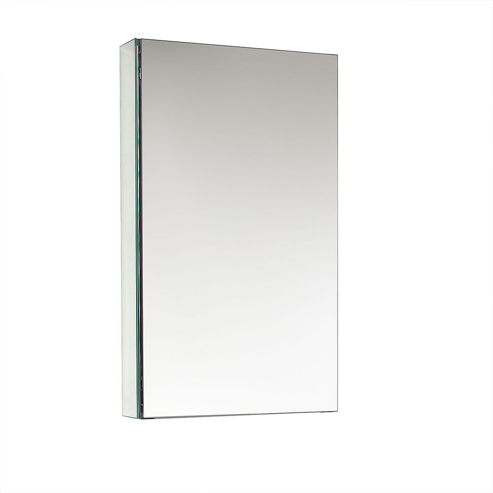 Fresca 15 inch W x 26 inch H x 5 inch D Frameless Recessed or Surface-Mount Bathroom Medicine Cabinet