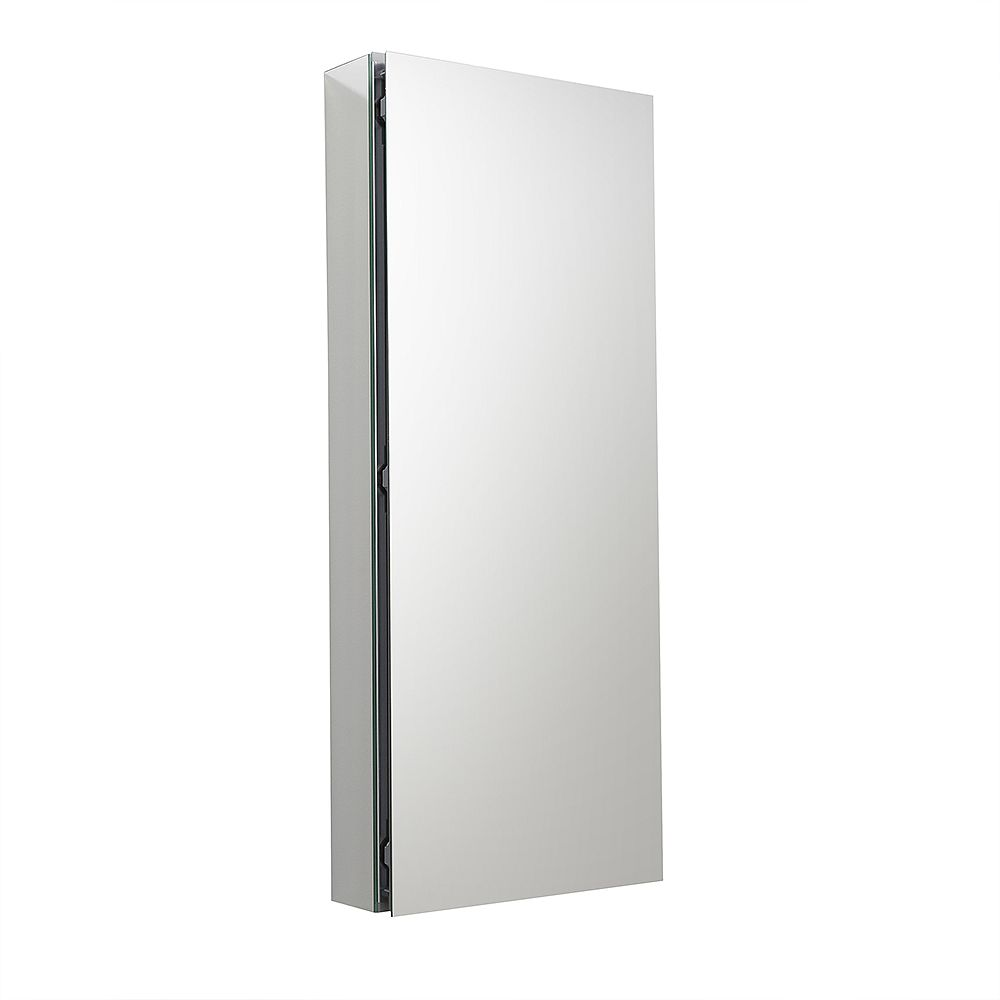 Fresca 15 inch W x 36 inch H x 5 inch D Frameless Recessed or Surface-Mounted Bathroom Medicine Cabinet