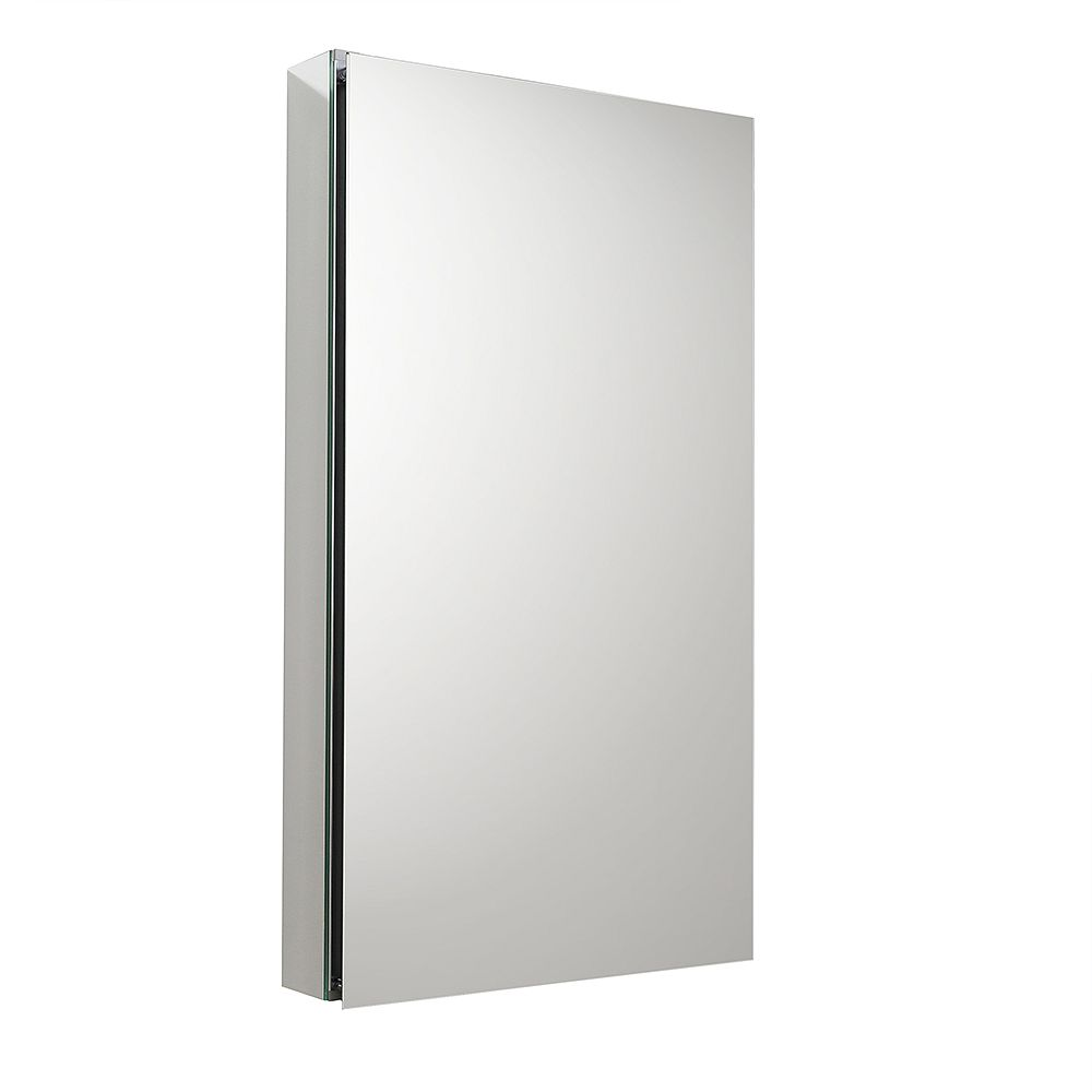Fresca 19.5 inch W x 36 inch H x 5 inch D Frameless Recessed or Surface-Mounted Bathroom Medicine Cabinet