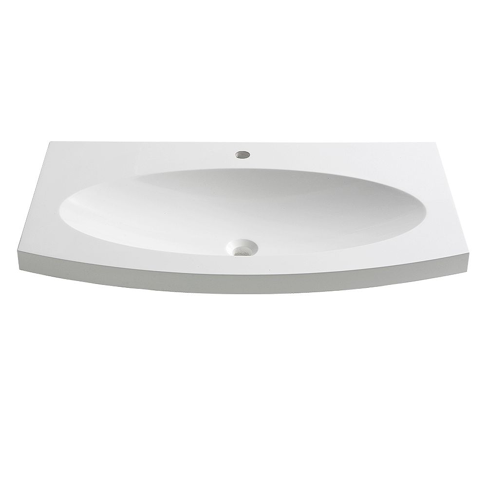 Fresca Energia 36 inch Acrylic Single Integrated Basin Vanity Top in White