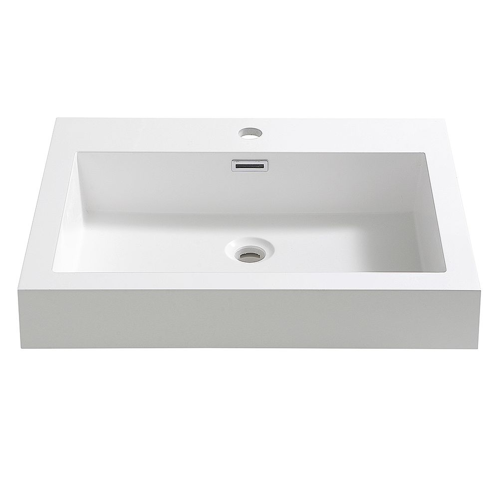 Fresca Nano 24 inch Acrylic Single Integrated Basin Vanity Top in White