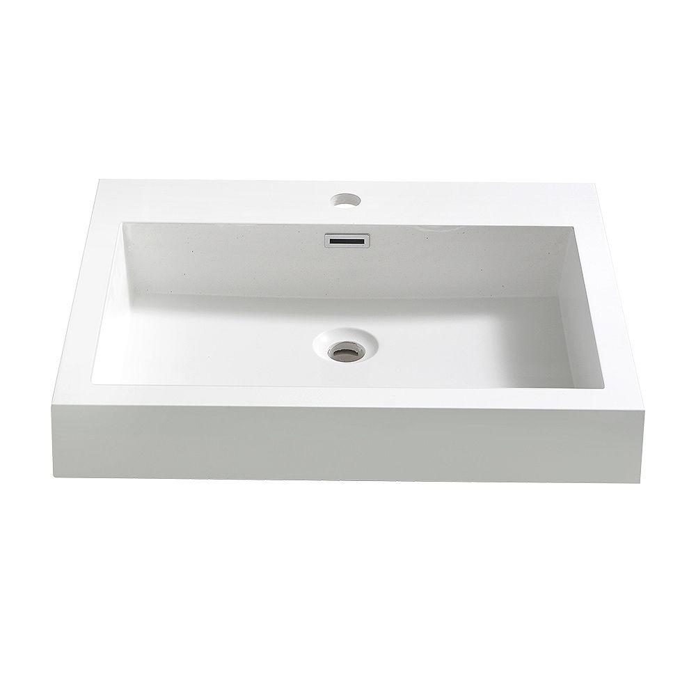 Fresca Alto 23 inch Acrylic Single Integrated Basin Vanity Top in White
