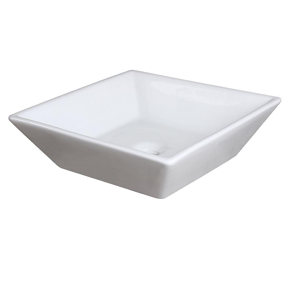 Fresca Torino 16 inch Ceramic Single Vessel Sink in White