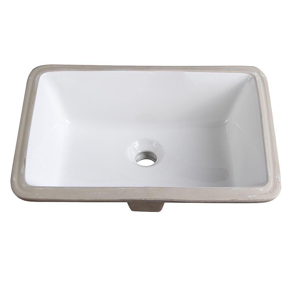 Fresca Adour 19.25 inch Ceramic Undermount Sink in White