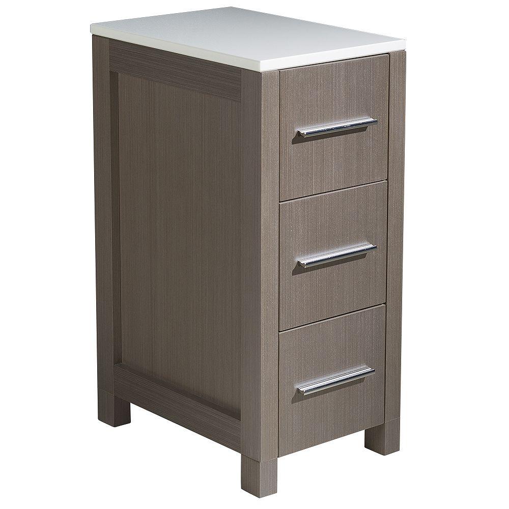 Fresca Torino 12 inch W x 17.75. D x 28.13 inch H Bathroom Linen Side Cabinet in Gray Oak