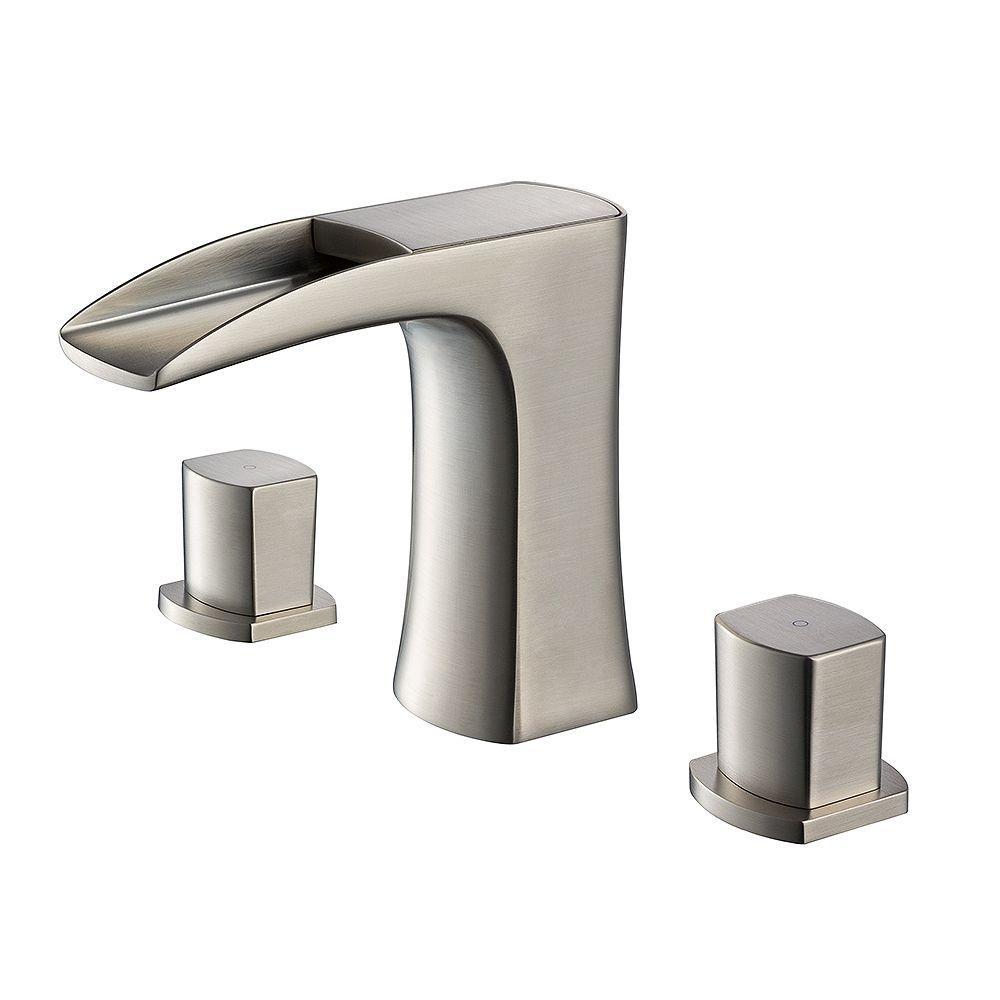 Fresca Fortore 8 inch Widespread 2-Handle Waterfall Bathroom Faucet in Brushed Nickel