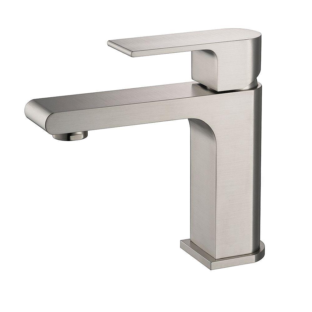 Fresca Allaro Single Hole Single-Handle Low-Arc Bathroom Faucet in Brushed Nickel